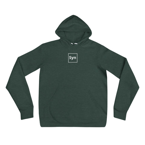 """Syn"" on front. ""Ack"" on back.  Hoodie for Network Engineers and SysAdmins."