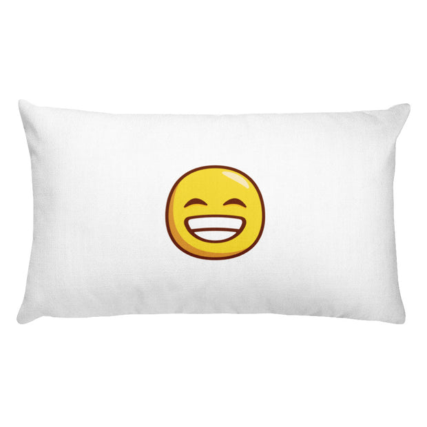 Happy/Sad emoticon Premium Throw Pillow and Case