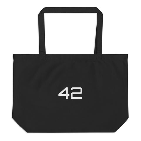 """42"" large organic tote bag"