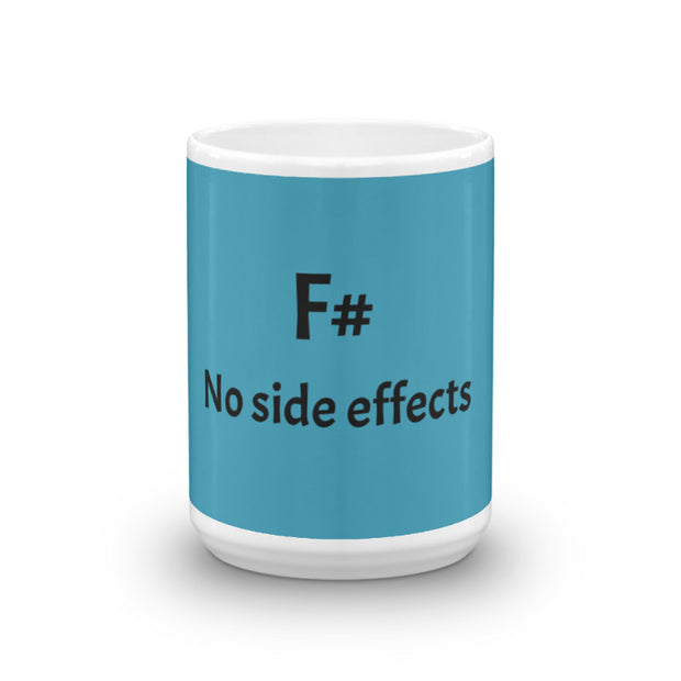 """No side effects"" / ""F#"" Mug for Software Developers"