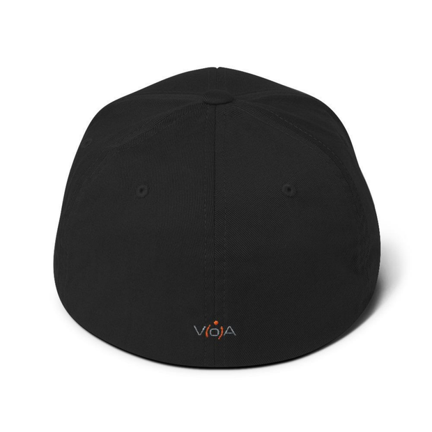 """127.0.0.1"".  Structured Twill Cap for Geeks, Net Admins, and Engineers. Small ""V[o]A"" logo on the back of hat.."
