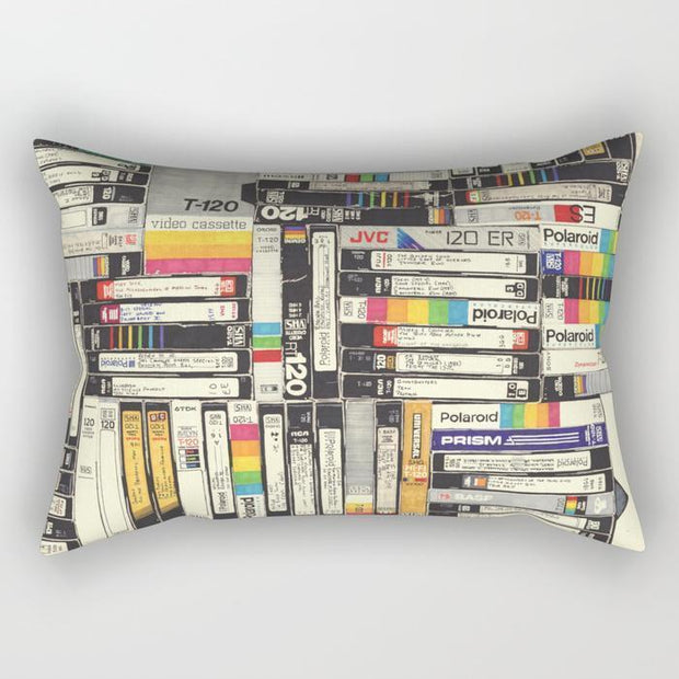 Video Cassette Rectangle Pillow