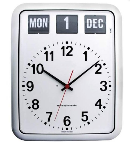 Easy-To-Read Large Calendar Wall Clock - Best Dementia Products 2019
