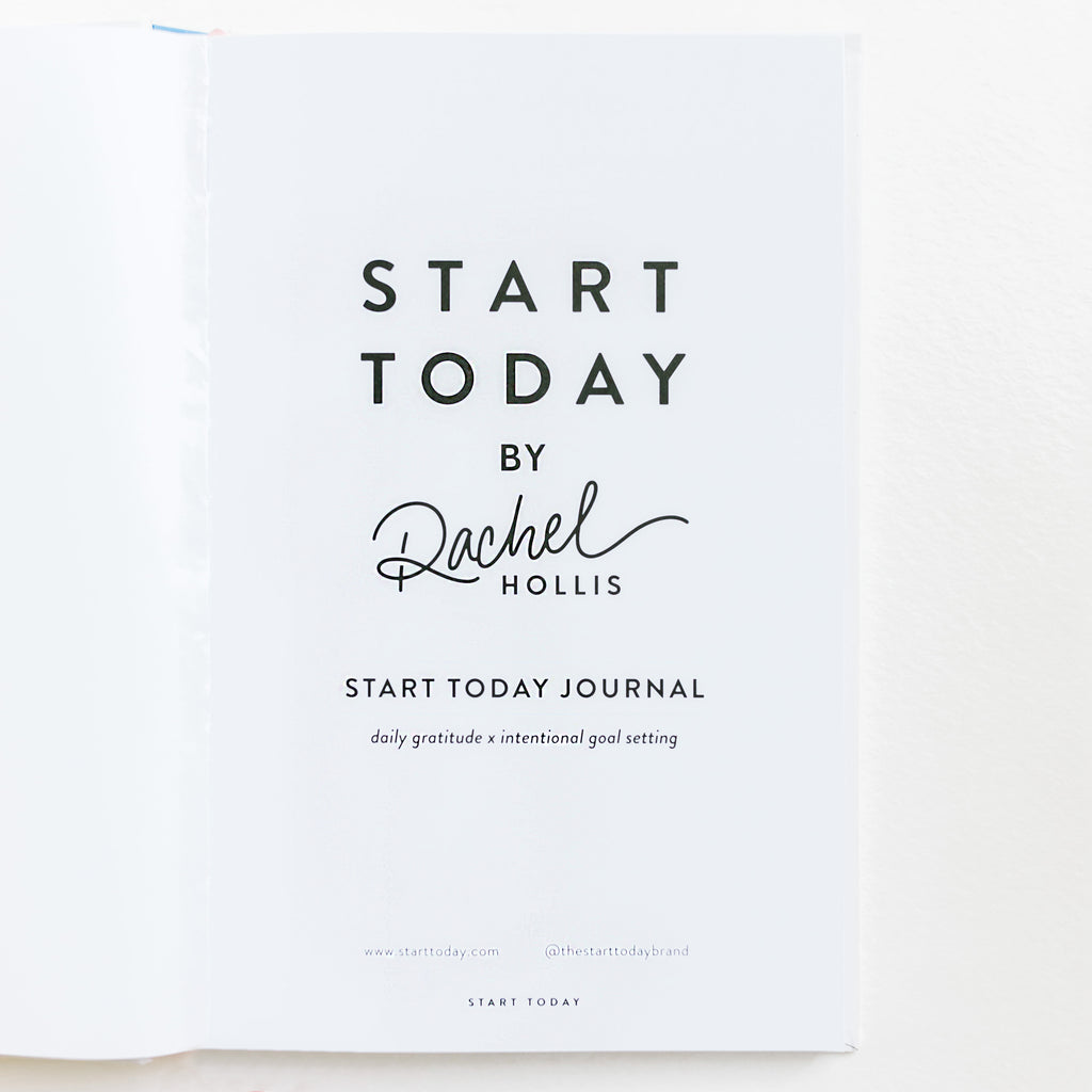 GO ALL IN START TODAY JOURNAL