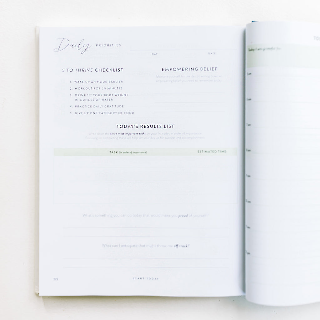 THE FUTURE IS YOURS PRIORITY PLANNER