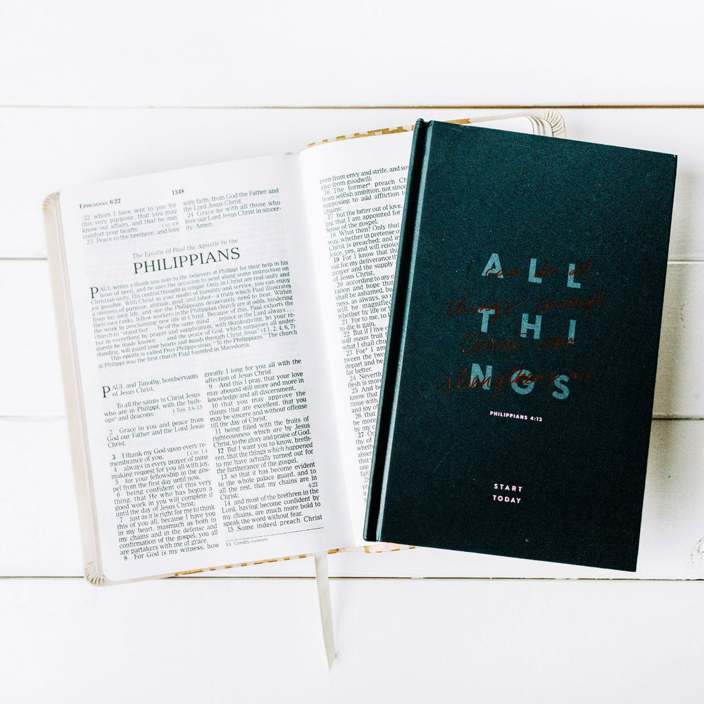 ALL THINGS THROUGH CHRIST START TODAY JOURNAL - Hollis Co