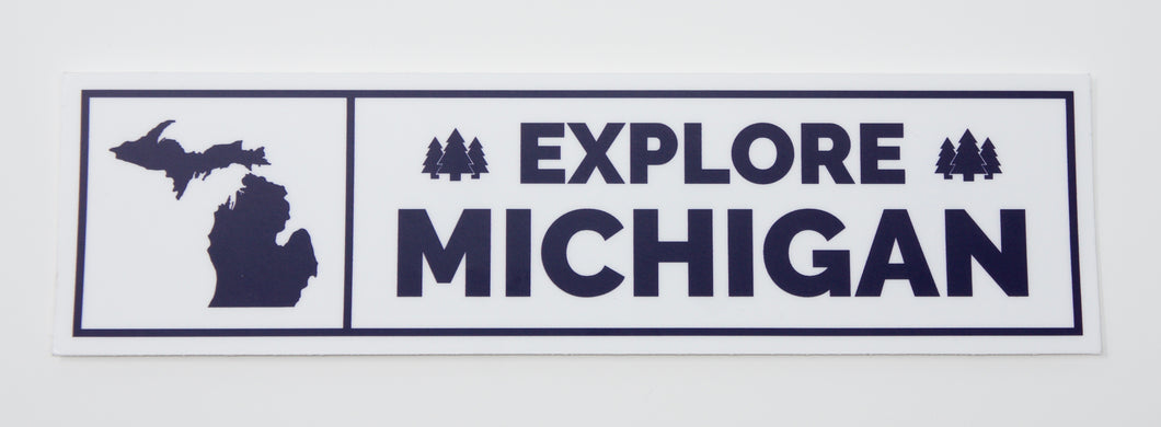 Explore Michigan Bumper Sticker