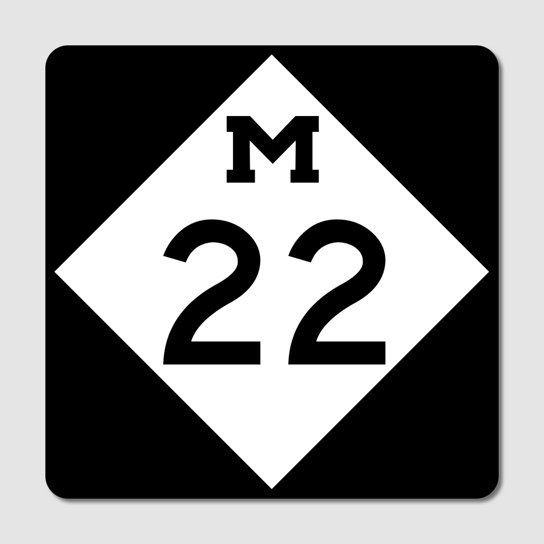 M-22 Route Marker Sticker