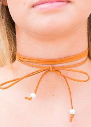 "The Rust ""Wrap Me Up"" Choker-Luminous Sky Boutique"