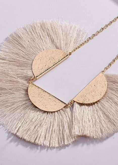 Coming Soon! Fringe Pendant Necklace-Luminous Sky Boutique