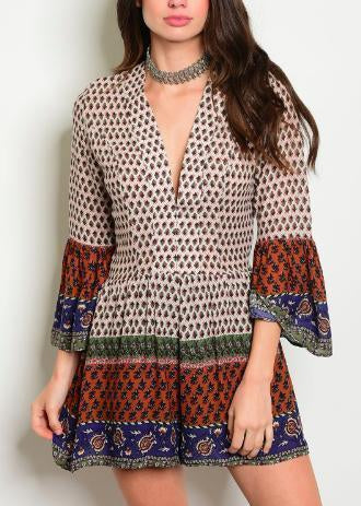 "The ""Bohemian Gypsy"" Romper-Luminous Sky Boutique"