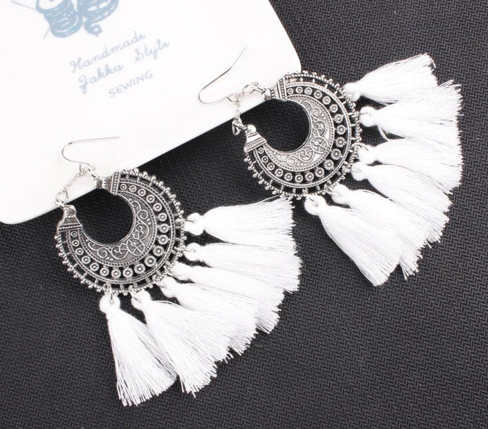 Boho Chic Tassel Earrings