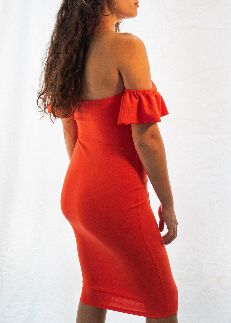 "The Bright Orange ""Curvy"" Dress-Luminous Sky Boutique"