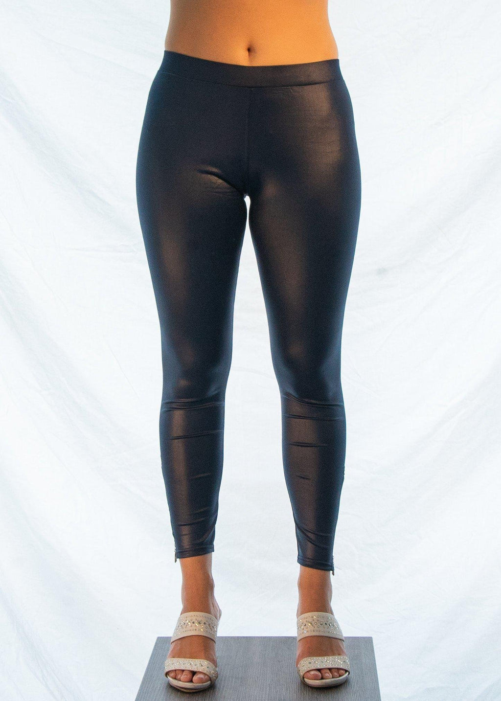 "The Navy Blue ""Biker Chick"" Leggings-Luminous Sky Boutique"