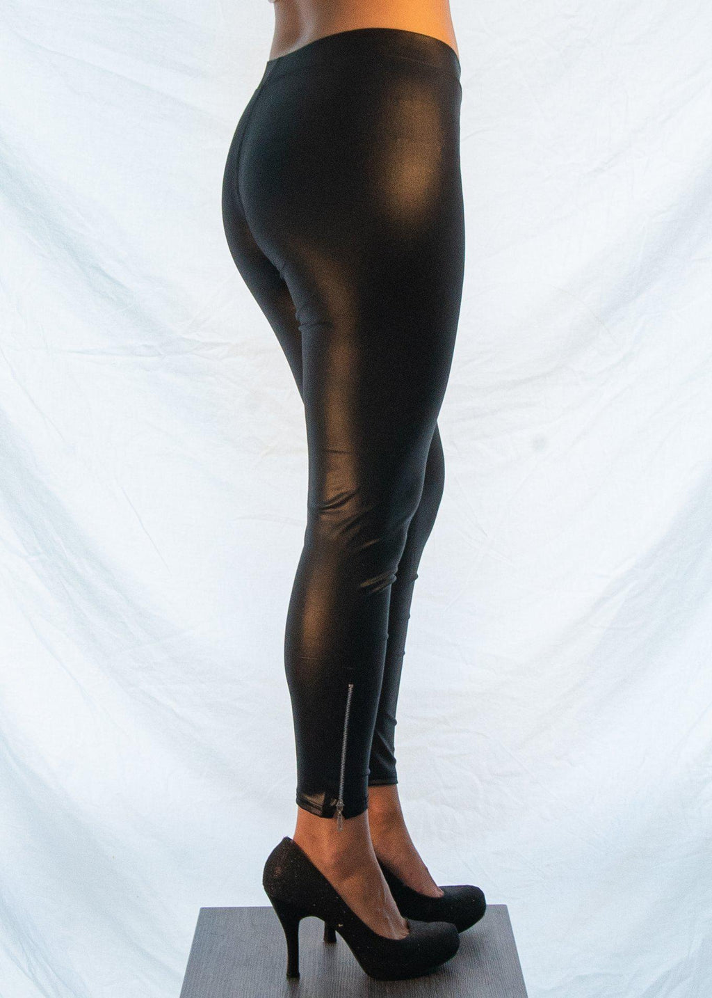"The Classic Black ""Biker Chick"" Leggings-Luminous Sky Boutique"