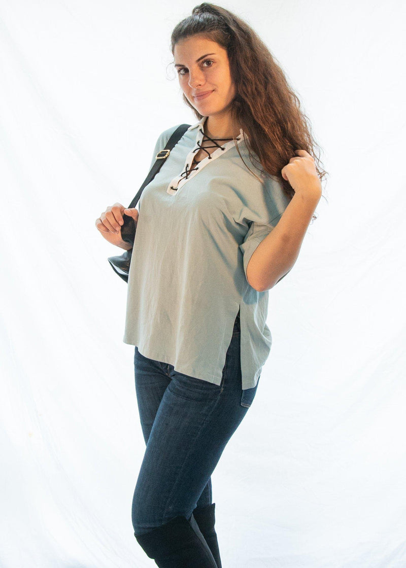 "The Jade ""Sporty Chic"" Tee Shirt-Luminous Sky Boutique"