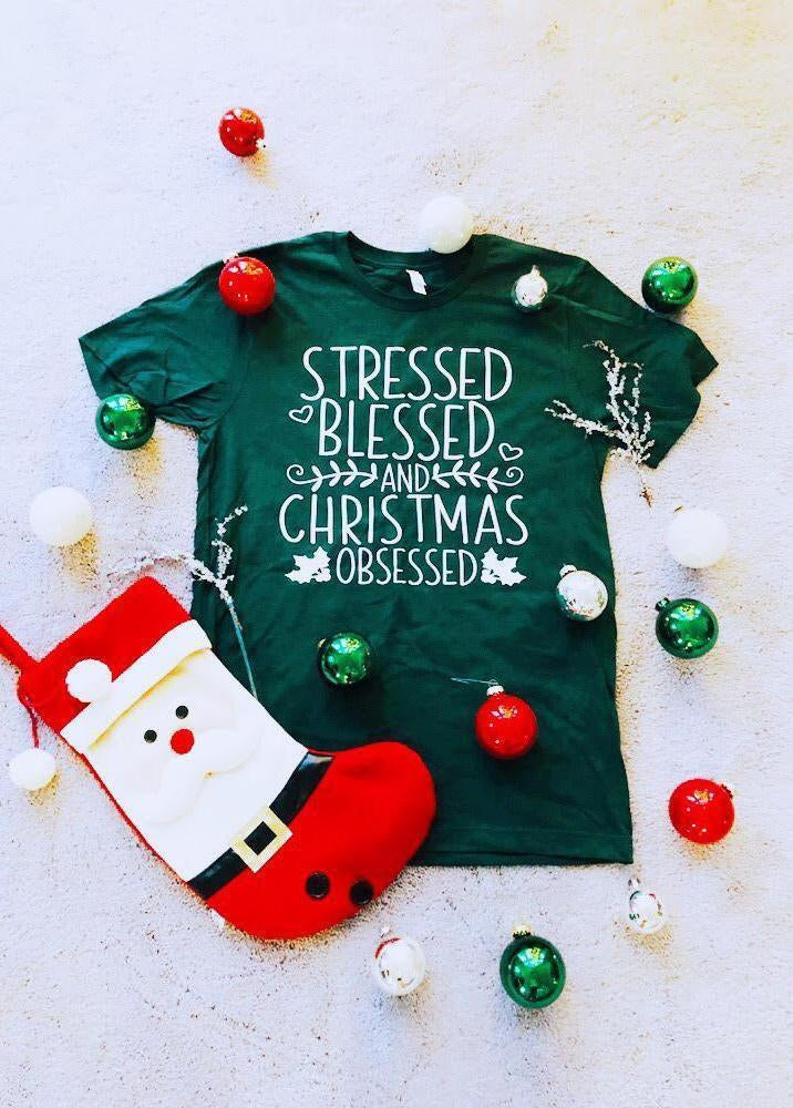 Christmas Obsessed Graphic Tee!