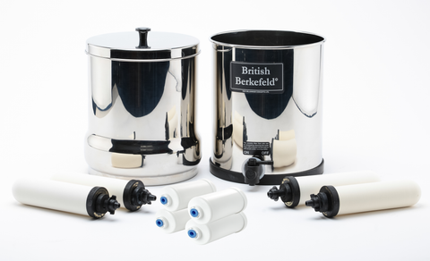 British Berkefeld water filter system / Ceramic Elements & Fluoride Filters