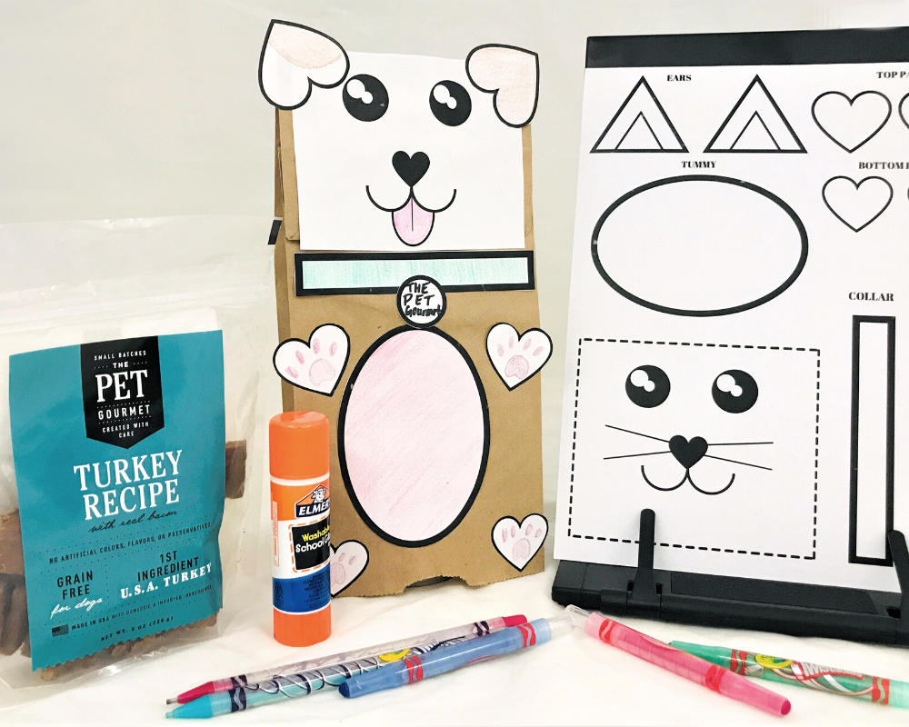 Puppy & Kitty Puppet - Craft for Kids