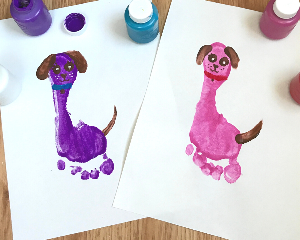 Craft for Kids - Footprint Puppy