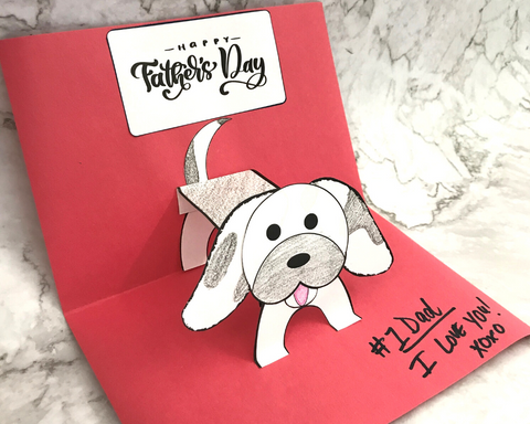 Pop-Up Pup Father's Day Card