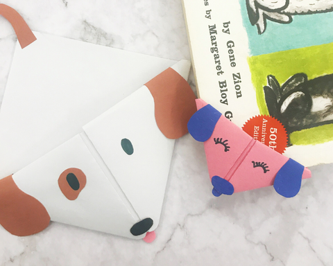 Origami Puppy Bookmark Tutorial