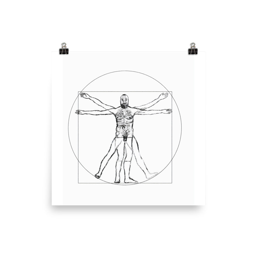 Self-portrait as Vitruvian Man