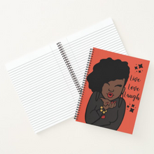 Load image into Gallery viewer, Live Love Laugh - Custom Afrocentric Notebook