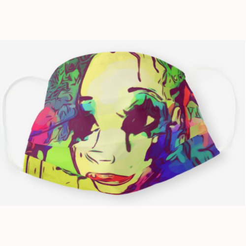 Kaleidoscope Girl Afrocentric Face Mask
