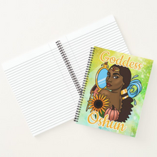 Load image into Gallery viewer, Goddess Oshun - Custom Afrocentric Spiritual Notebook