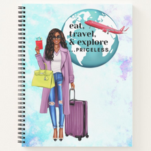 Load image into Gallery viewer, Eat Travel Explore - Custom Afrocentric Spiritual Notebook