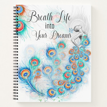 Load image into Gallery viewer, Breath Life into Your Dreams - Custom Afrocentric Notebook