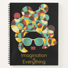 Load image into Gallery viewer, Imagination is Everything - Custom Afrocentric Notebook