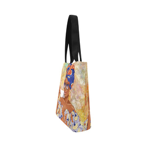 Summer Tea Blue - Custom Afrocentric Tote bag