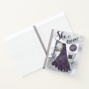 She is Magic - Custom Afrocentric Metaphysical Notebook