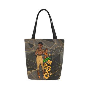 Black Girl Magic Gold  -  Custom Afrocentric Tote Bag