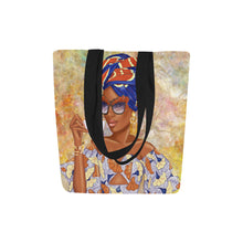 Load image into Gallery viewer, Summer Tea Blue - Custom Afrocentric Tote bag