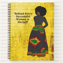 Load image into Gallery viewer, Behind Every Successful Woman - Custom Afrocentric Notebook