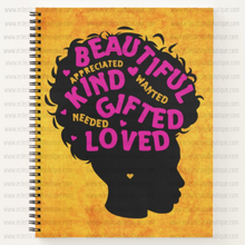 Load image into Gallery viewer, Beautiful Kind Gifted Woman - Custom Afrocentric Notebook
