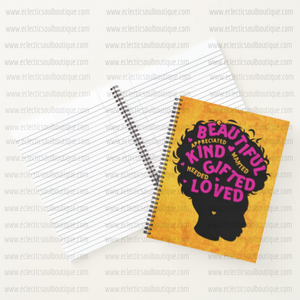 Beautiful Kind Gifted Woman - Custom Afrocentric Notebook