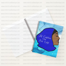 Load image into Gallery viewer, Self Confidence - Custom Afrocentric Hijab Notebook