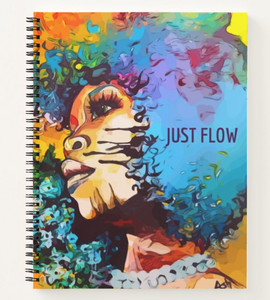 Just Flow Afrocentric Custom Notebook