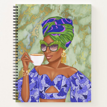 Load image into Gallery viewer, Summer Tea - Green/Blue - Afrocentric Notebook