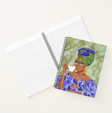 Load image into Gallery viewer, Summer Tea - Green/Blue - Custom Afrocentric Notebook