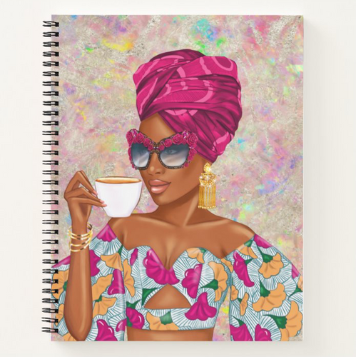 Summer Tea - Fuchsia - Afrocentric Notebook