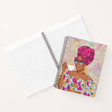 Load image into Gallery viewer, Summer Tea - Fuchsia - Custom Afrocentric Notebook