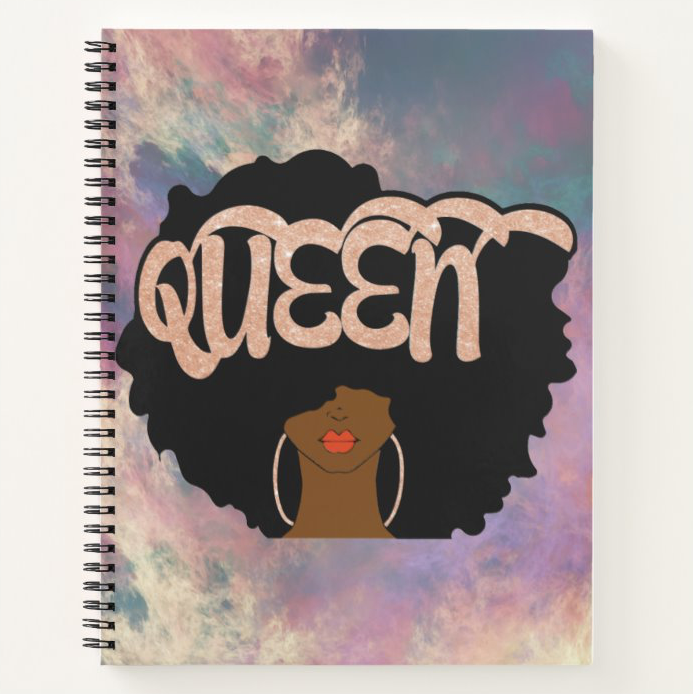 Rose Gold Queen - Custom Afrocentric Notebook
