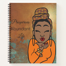 Load image into Gallery viewer, Prosperous Abundant Life - Custom Afrocentric Notebook