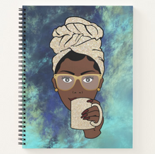 Load image into Gallery viewer, Morning Coffee Tea  - Custom Afrocentric Notebook