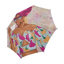Load image into Gallery viewer, Summer Tea - Fuchsia - Custom Afrocentric Umbrella